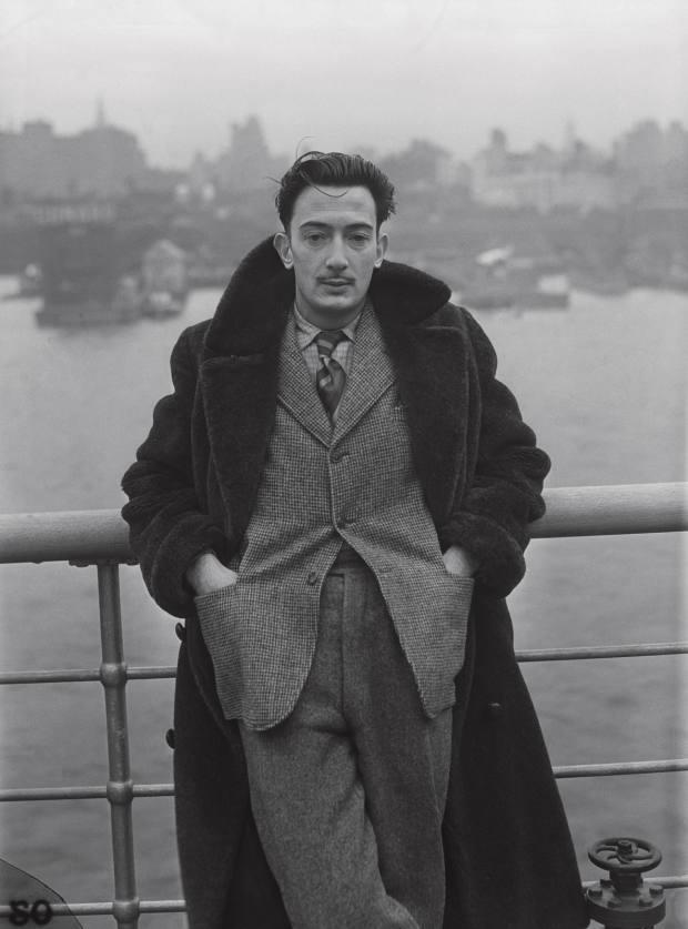 Salvador Dalí wears an alpaca coat in New York, 1936