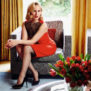 Charlotte Olympia Dellal at her home in west London