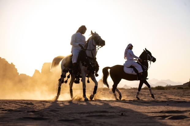 Desert horseback riding remains a key part of Arabian culture