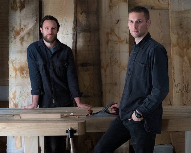 Furniture-makers Jack Bibbings and Matthew Hensby