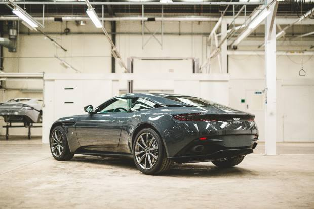 "The 20 DB11 cars echo the website's signature grey and green colour scheme with paintwork in Aston Martin's historic 1960s ""Charcoal Grey"" hue"