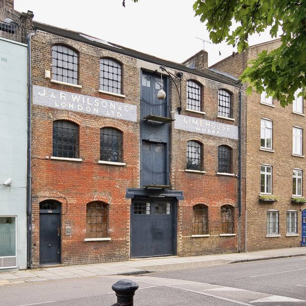 Limehouse Wharf on Narrow Street, where Knight Frank is marketing a three-bedroom apartment for £1.55m