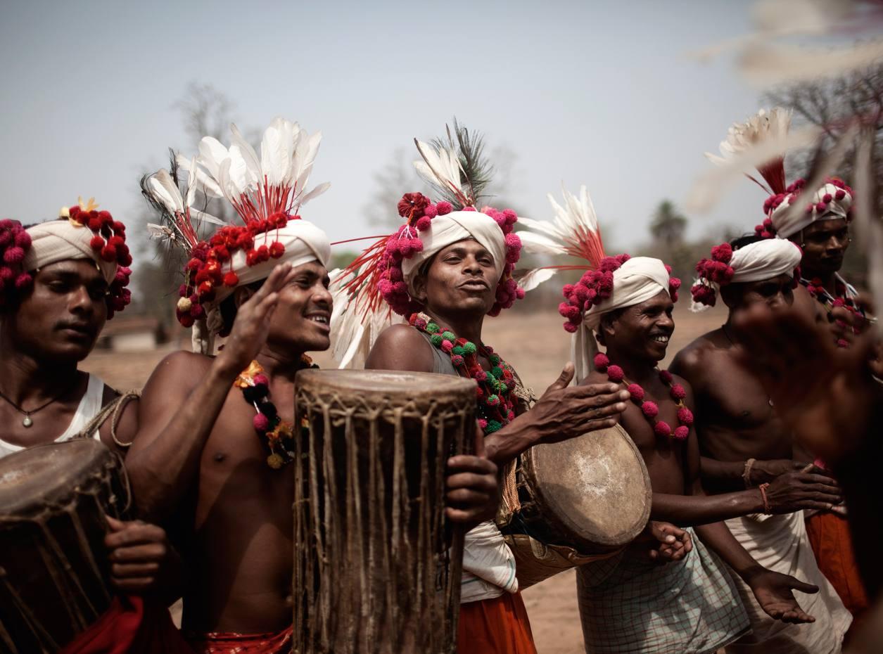 Bharripara tribe performing a Deer Horn dance