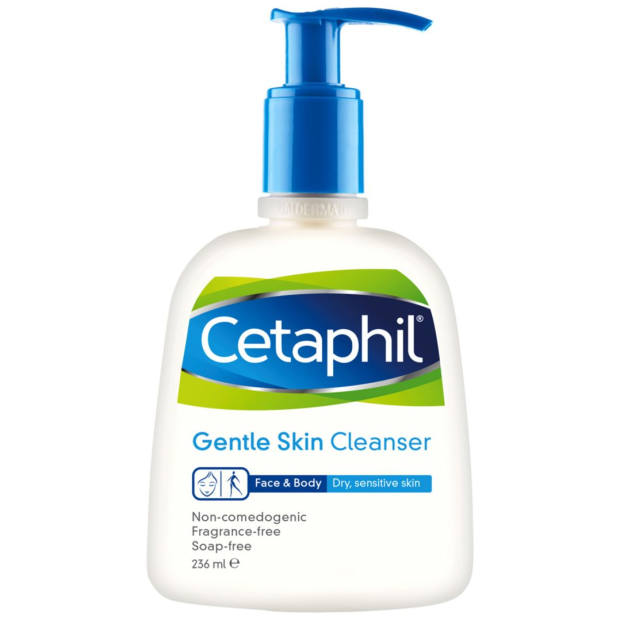 Gorham's daily skincare ritual includes Cetaphil (£8.99 for 236ml, boots.com)