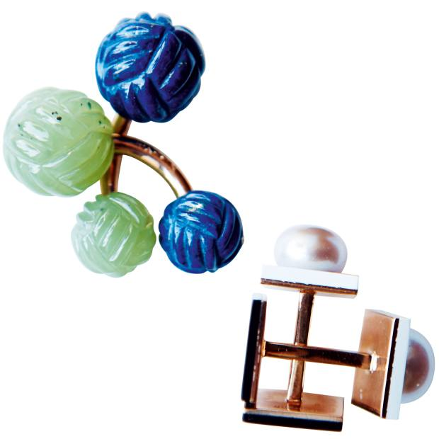 Two pairs of cufflinks designed by de Givenchy, from $4,000