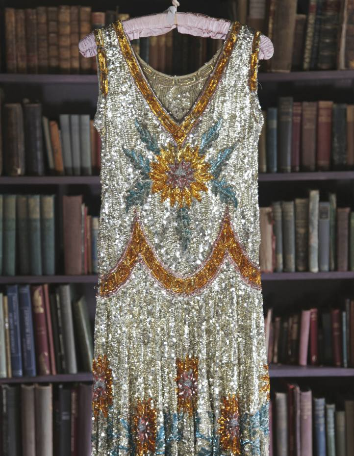 1920s sequined and beaded tulle dress from Virginia Bates's book Jazz Age Fashion