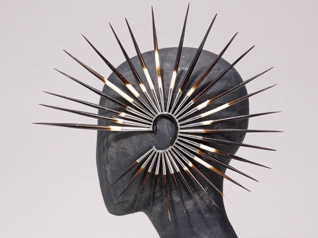 Shaun Leane silver and porcupine quillearrings, sold for $31,250 at Sotheby's NewYork in December 2017