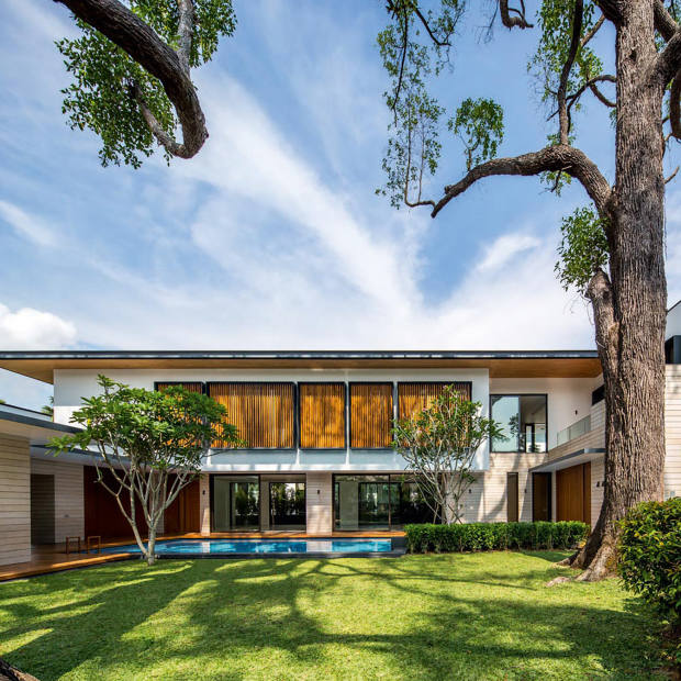 A five-bedroom Good Class Bungalow in Holland Park, Singapore, about £16.7m through Savills