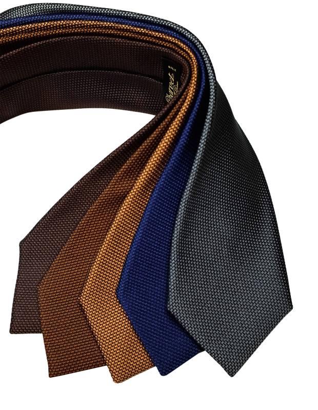 Charvet silk-grenadine ties, €150 each