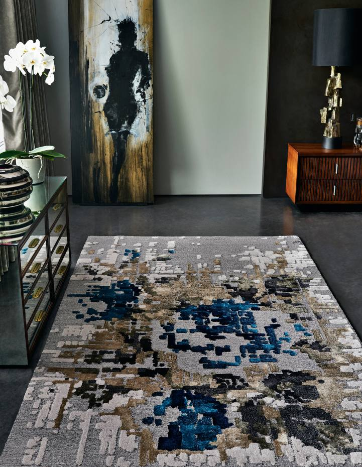 Stepevi wool/viscose Rose Cliff rug, £330 per sq m