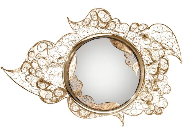 Boca do Lobo 18ct gilded Filigree mirror, €15,570