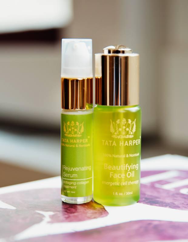 Santo Domingo's Tata Harper Beautifying Face Oil, $48 for 30ml, and Rejuvenating Serum, $95 for 30ml