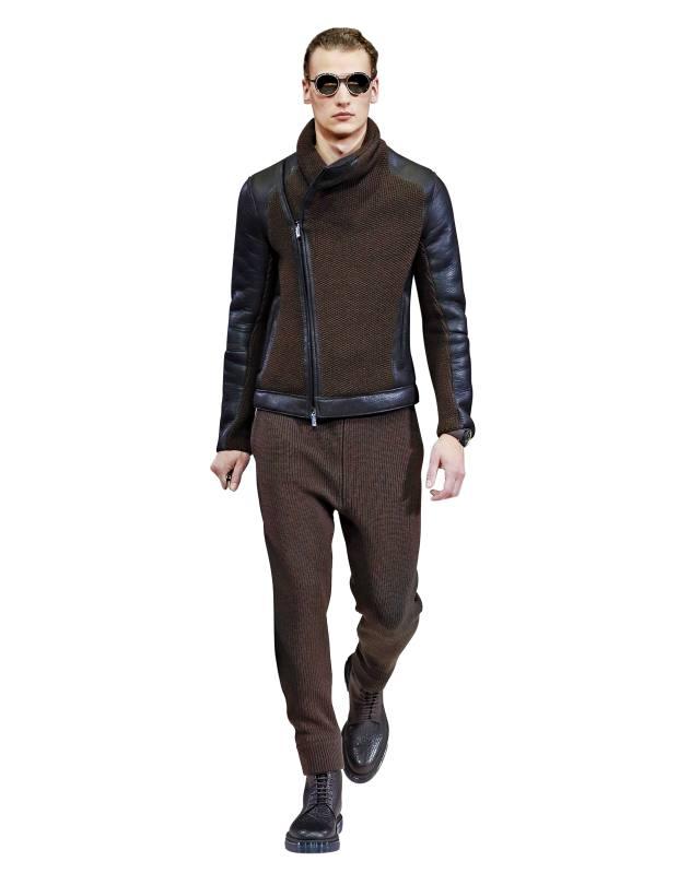 Emporio Armani nappa kidskin and wool blouson, £1,290