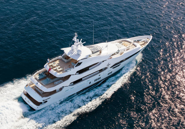 The Sunseeker flagship is the tri-deck 47m 155 Yacht, from £28.8m