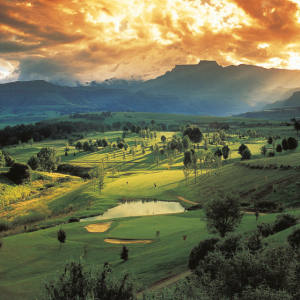 The dramatic setting of Champagne Sports Resort's course