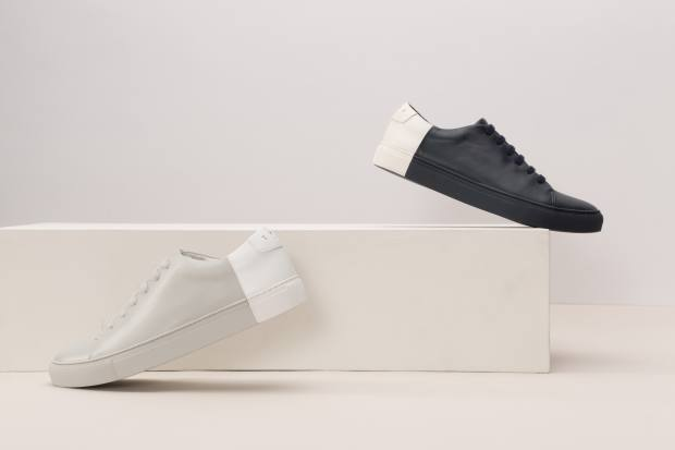 THEY nappa leather Two-Tone Low sneakers, $359 each