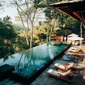 The pool at Como Shambhala Estate's Tirta Ening residence