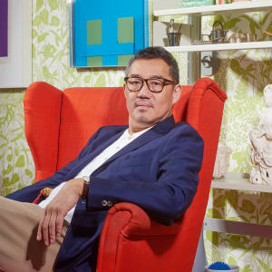 Peter Ting at home in London