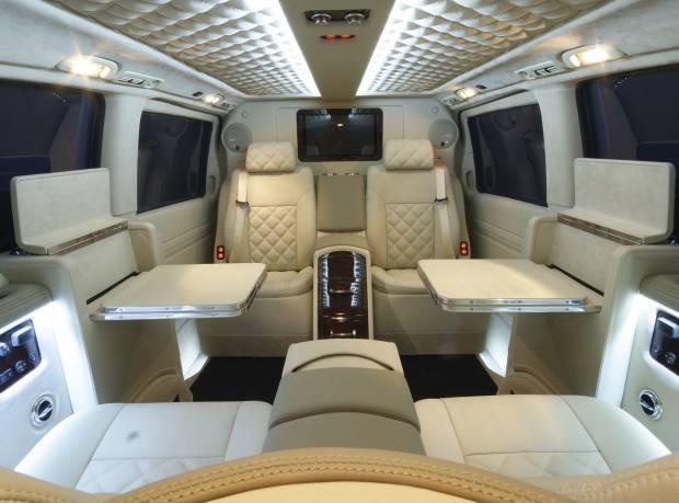 A Viano interior in cream nappa leather
