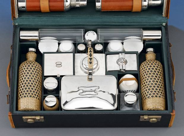 Picnic set for Rolls-Royce c1905, from MS Rau Antiques, $14,850