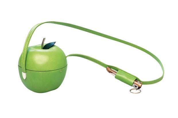 Hermès lambskin and palladium Adam's Apple bag, price on request.