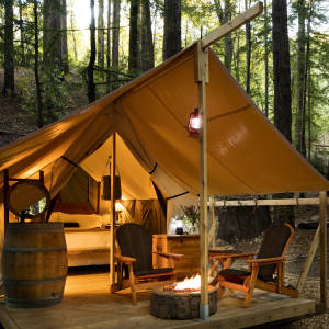Guests at Ventana Big Sur canopt for one of the 15 luxury tents set in the hotel's160 acresof wilderness