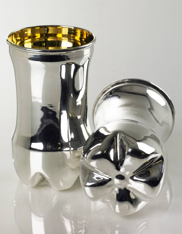 Rebecca Joselyn silver and gilt Bottle beakers, £795 each