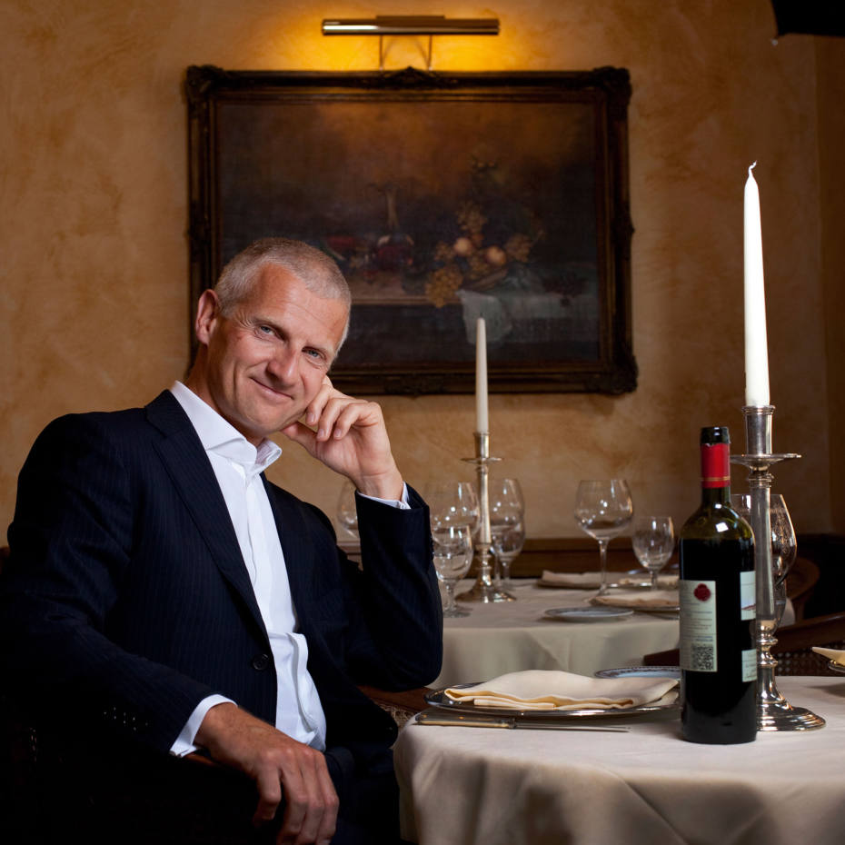 Andrea Illy at Harry's Grill, Trieste.