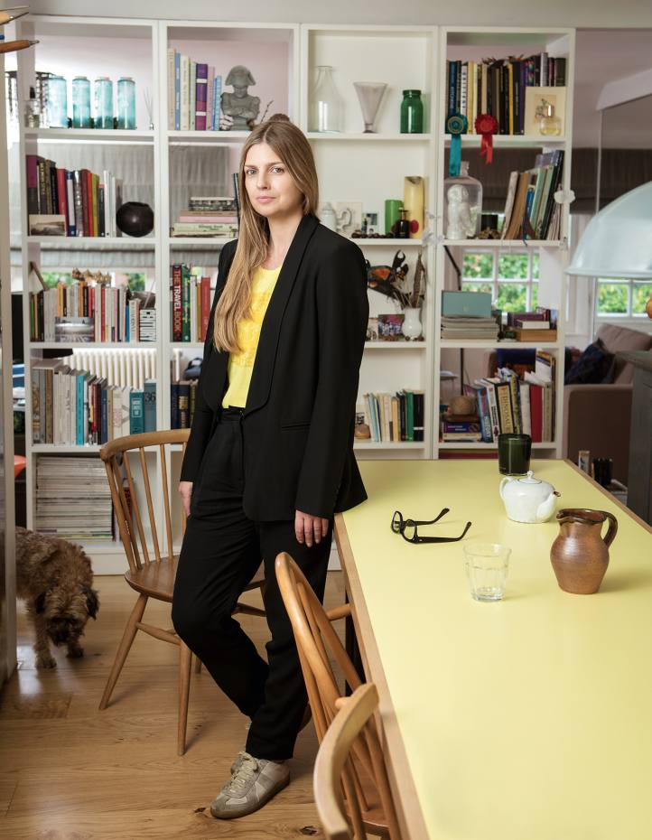 Lyn Harris photographed at home in North West London
