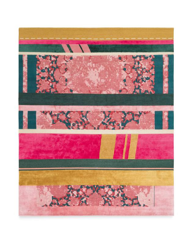 DimoreStudio for Golran wool/silk Paralleli rug, price on request