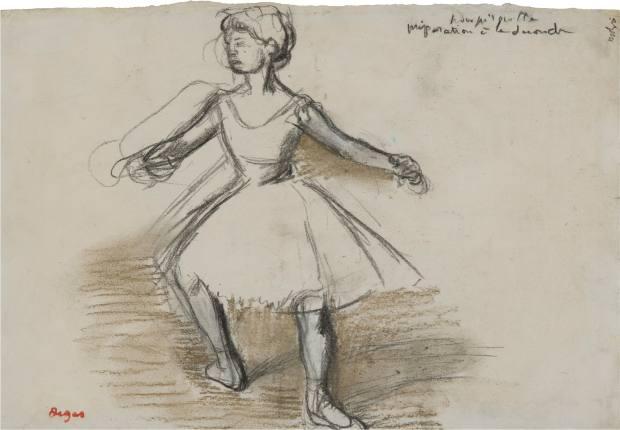 """Danseuse (""""pour pirouette"""") by Edgar Degas"""