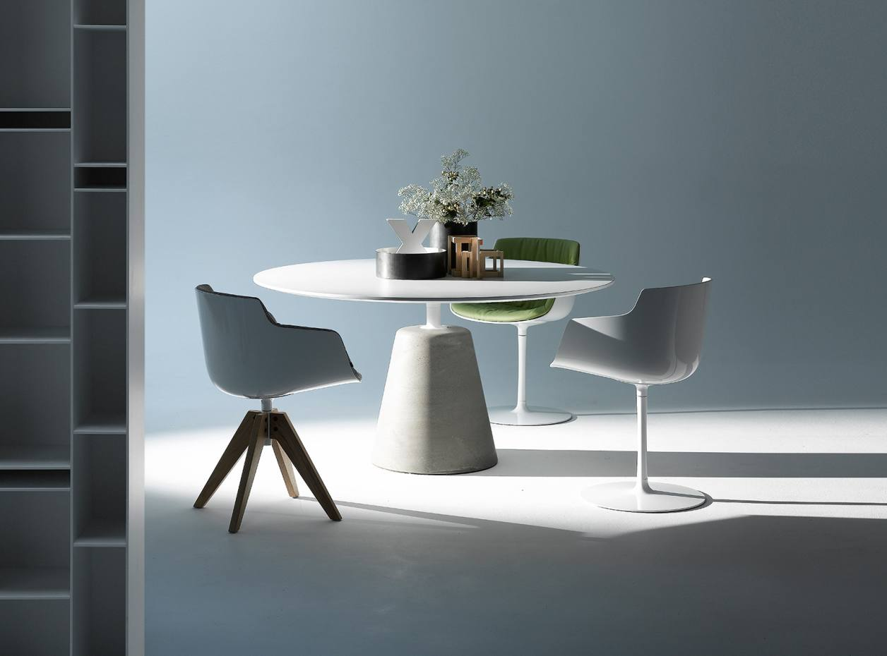 Jean-Marie Massaud for MDF Italia concrete-based Rock table with white-lacquered top, from £1,669