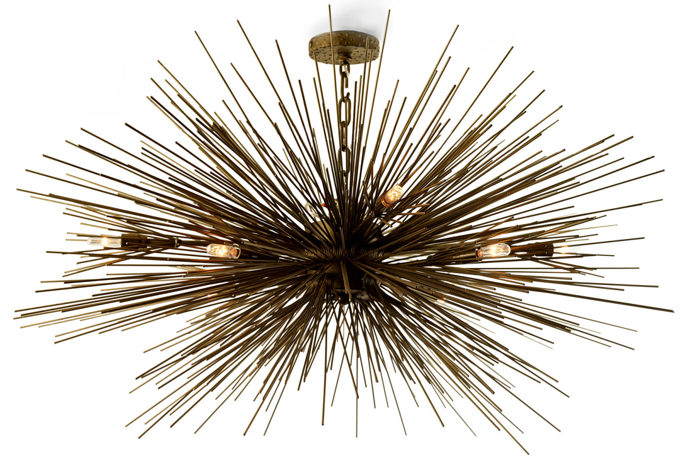 Jean de Merry metal Lumiere chandelier, $4,350