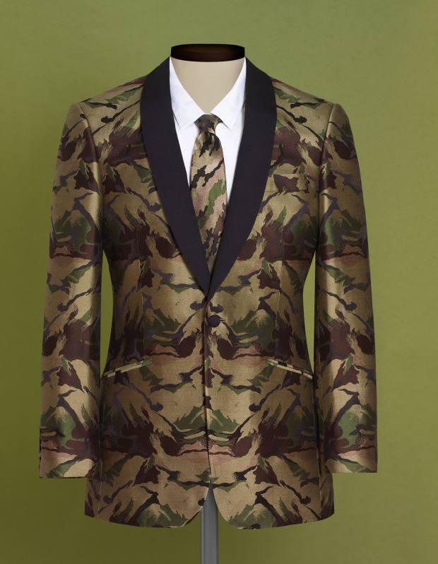 Richard James silk jacket, £695; matching tie, £75.