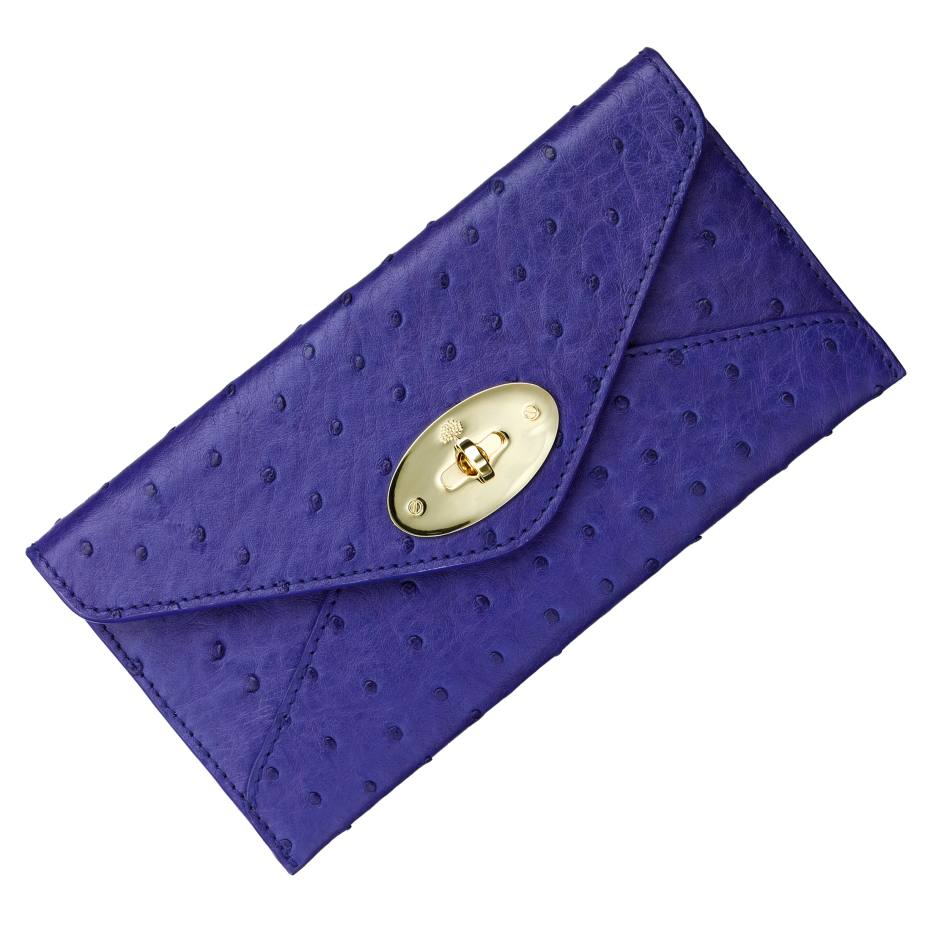 Mulberry envelope wallet in ostrich, £995