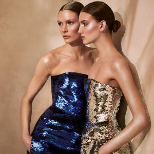 Oscar de la Renta sequin and silk gowns, £6,531 each