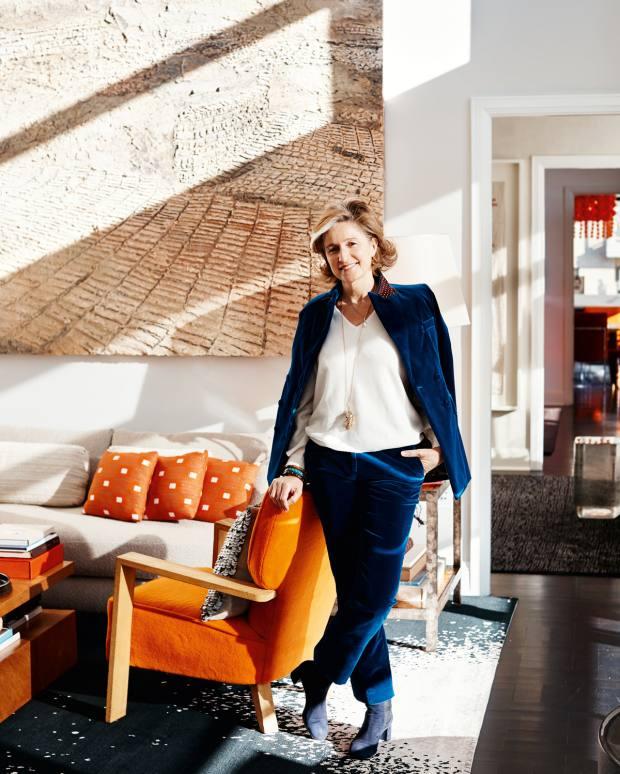 Art adviser/dealer Dominique Lévy at home in New York