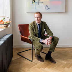 Michael Hill at his London apartment