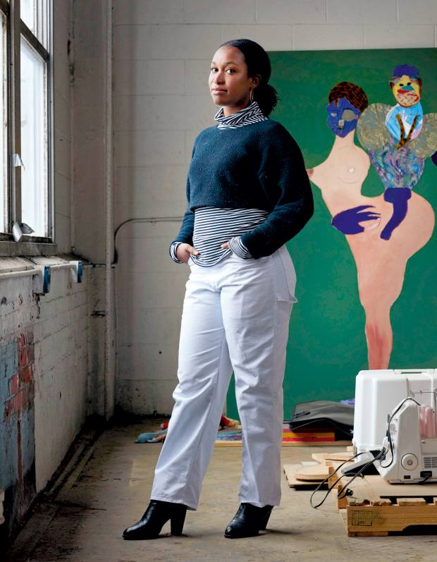 Connecticut-based Tschabalala Self, who graduated from Yale School of Art four years ago