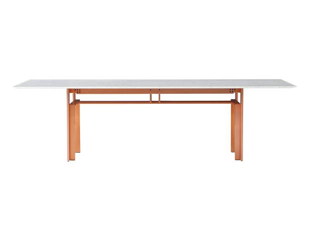 Cassina Doge table by Carlo Scarpa reimagined in marble and copper-finished aluminium, from £8,550