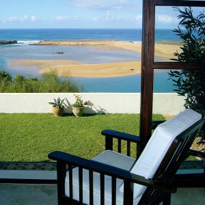A view of the lagoon from Villa la Diouana, Morocco