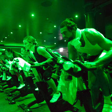 Clients are put through varying speeds on the bikes at the Cycle class