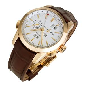 Ulysse Nardin Perpetual Calendar watch in 18ct rose gold on leather strap, £38,500