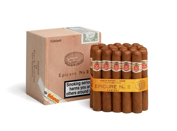 Hoyo de Monterrey Epicure No 2 cigars; Terence Conran smokes four a day.