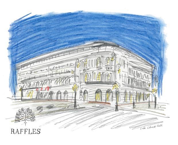 The new Raffles Warsaw Europejski Hotel at night, as imagined by Luke Edward Hall