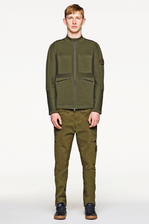 Stone Island panelled wool zip-top cardigan, £475