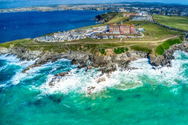 The hotel overlooks Fistral Beach on Cornwall's north coast