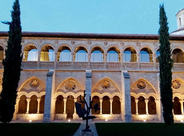 The lavishly restored cloisters at Monasterio de Valbuena
