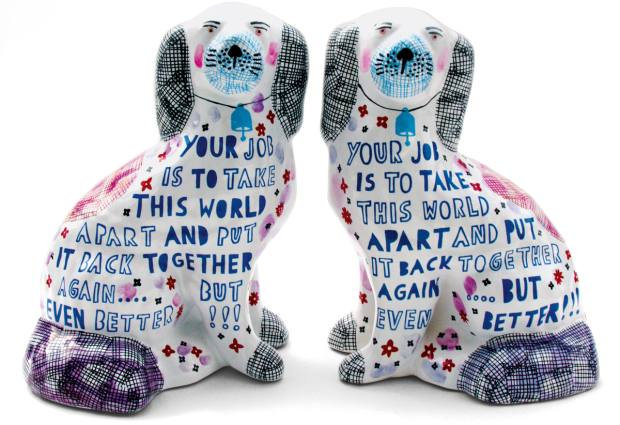 """Rob Ryan limited-edition """"motto"""" dogs from 2010"""