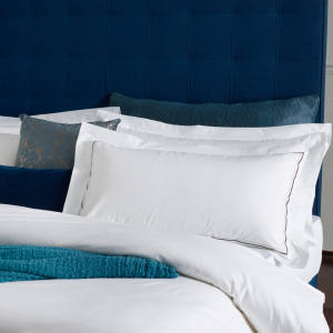 Savoir Giza 87 Egyptian cotton percale Drift bed linen, from £800 for a set of one double duvet cover, fitted sheet and two pillowcases